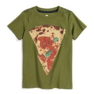 Tea Collection M 6-7 Pizza Italy Shirt Green New